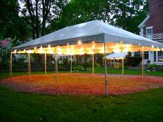59 New Ideas backyard party canopy outdoor weddings Outdoor Party Lighting, Tent Lighting, Canopy Lights, Outdoor Parties, Lighting Ideas, Outdoor Weddings, Outdoor Tent Party, Party Canopy, Wedding Canopy
