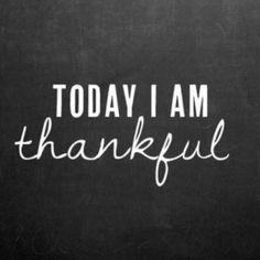 Thankful! :)