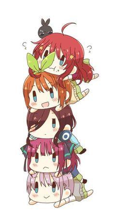 Quintillas de chibi [Gotoubun no Hanayome] - Go toubun no hanayome - Best Anime Manga Anime, Cute Anime Chibi, Kawaii Chibi, Kawaii Anime Girl, Manga Art, Anime Art, Animes Wallpapers, Cute Wallpapers, Chibi Wallpaper