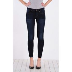 Henry & Belle Super Skinny Ankle ($154) ❤ liked on Polyvore featuring jeans, midnight, straight-leg jeans, skinny jeans, skinny straight jeans, skinny fit jeans and form fitting jeans