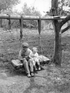 Depression-Era Car Seat Swing from the blog Playscapes