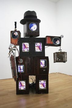 Korean artist Nam June Paik lives and works in New York, teaches at Staatliche Kunstakademie, Dusseldorf, and has a second home in Bad Kreuznach Nam June Paik, Sweet Station, Fluxus, New Media Art, Contemporary Art Daily, Video Artist, Video Installation, Video Wall, Assemblage Art