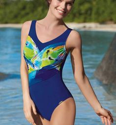 cc29cd0aacc17 Sunflair Watercolour Bloom Mastectomy Swimsuit  12