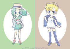 Sailors Neptune and Uranus by littlemisspaintbrush~