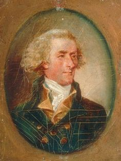 1788 miniature portrait of Jefferson by John Trumbull  (Depicts Jefferson at age 33, but painted when he was 45.)  Oil on wood.