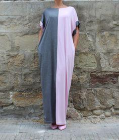 Gray Caftan Dress Maxi Dress Abaya Dress by cherryblossomsdress