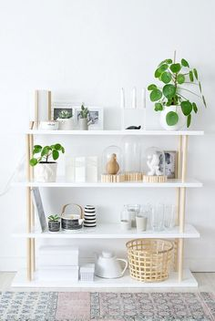 DIY scandi style shelves with very few materials needed