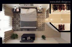 Готовые дизайн-проекты квартир в домах серии П-44Т - Двушка распашонка 67 м2 - Комната 17,9 м2