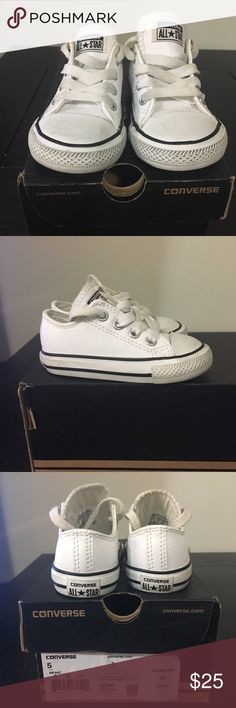 ed689450cd00 Converse kids sneakers Low top leather allstar barely worn Converse Shoes  Sneakers Kids Sneakers