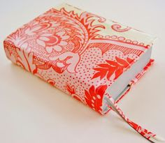 Cotton fabric laminated worn Bible or book cover DIY