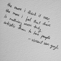 van gogh on love