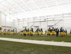 RJCS Green Bay Packers' Don Hudson Training Center.  Green Bay, WI    except it was our kids on the field and with 3 Packer players.