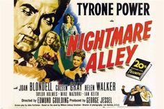 NIGHTMARE ALLEY film noir movie POSTER joan BLONDELL tyrone POWER 24X36