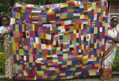 Karnataka in India. Kawandi quilts by Siddi women who are descendants of African slaves bought to Goa in the 17th century