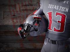 2013 tcu vs texas tech grey football uniform 5 687x515 Texas Tech Beats TCU in New Grey Uniforms