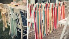 inspiration rubans decoration de chaises
