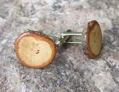 Rustic Oak Tree Branch Wooden Cufflinks  Perfect Wood von OruAka