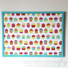 Cute Cork Board Makeover- Back to School from Occasionally Crafty