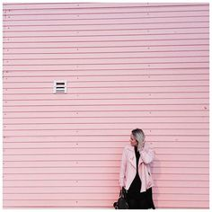 Best back drop for our little video. Pink Walls, Pink Jacket, Backdrops, Photoshoot, Photo And Video, Instagram, Women, Fashion, Moda