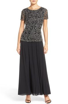 51b979ff Free shipping and returns on Pisarro Nights Beaded Mock Two-Piece Gown  (Regular &