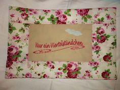 Nur ein Viertelstündchen, Romantik  Kissenbezug von Kat - Design  -  Die Fadenhexe auf DaWanda.com
