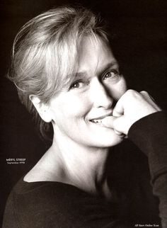 Smile for me! Meryl Streep