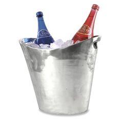 Elegant Aluminum Oval Wine Ice Bucket