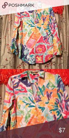 💐 Lauren Ralph Lauren Colorful Top 100% cotton Lauren Ralph Lauren Tops