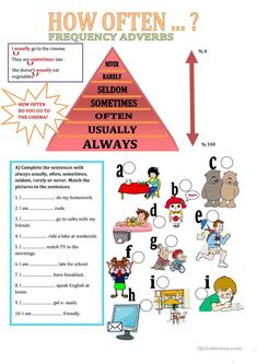 A collection of English ESL Adverbs worksheets for home learning, online practice, distance learning and English classes to teach about English Class, English Lessons, Learn English, English Time, Adverb Activities, English Activities, English Teaching Materials, Teaching English, English Grammar Worksheets