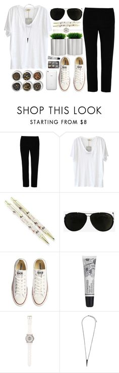 """""""casual friday."""" by cauchemar-exquis ❤ liked on Polyvore featuring T By Alexander Wang, American Vintage, Harrods, Tom Ford, Converse, Tea Collection, Cowshed, Juicy Couture, Pieces and blomus"""