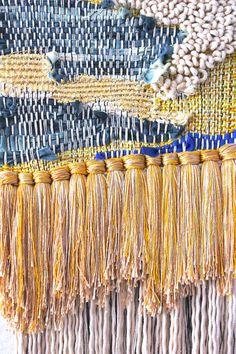 Denim//moon weaving by All Roads.
