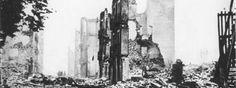 Guernica, after the April 26, 1937 air attack against the civilian population. Los gritos de Gernika