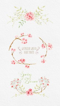 Sakura Clipart Flowers Digital. Hand drawn clip art от ReachDreams
