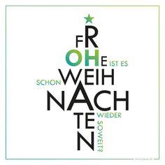 Typografisch gestaltete Weihnachtskarte in knalliger Farbe - poppt dein Weihnachtsgeschenk nochmal so richtig auf. Was wünschst du denn? FROHE WEIHNACHTEN?! Oder kommt Weihnachten für dich wie...