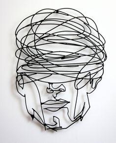 Metal Large Original Wall Art, Modern Abstract art, Face One line male head Contemporary art, Black abstract Sculpture Wire Art Sculpture, Steel Sculpture, Abstract Sculpture, Sculptures, Modern Art Sculpture, Abstract Line Art, Black Abstract, Metal Walls, Metal Wall Art