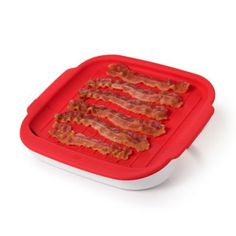 Oxo Good Grips Microwave Bacon Crisper In Red White Microwave