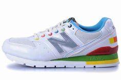 Cool Womens New Balance White Green Blue Gray Logo CM996MWT Shoe