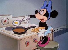 Minnie cooking