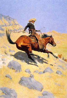 The Cowboy (1902) by Frederic Remington #oil #cowboy #remington