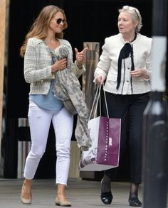 Princess Madeleine of Sweden has been seen shopping in London with her friends.