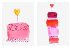 Margaret Berg Art: Heart Cakes 3 & 4