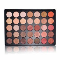This palette is an ALL SHIMMER version of the popular 35O palette. These shadows are extremely soft and pigmented. 35 beautiful shimmer colors that will go with any skin tone and brighten up any look.