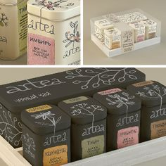 Работа Artea. Чайный набор для творческих личностей. Упаковка © Мария Пономарева. . Cмотрите на re:vision