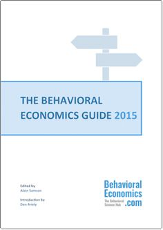 The Behavioral Economics Guide 2015 is your manual for theory, concepts, resources and, most importantly, Behavioral Science in practice.