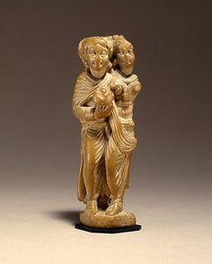 Two Standing Women Date: ca. 1st century B.C. Culture: Pakistan (ancient region of Gandhara) Medium: Phyllitic schist