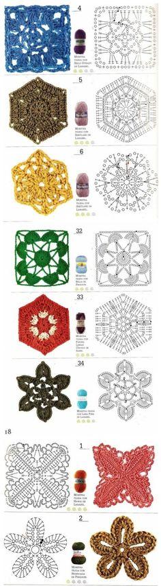 Luty Artes Crochet: bolsas. ☀CQ #crochet #grannysquare #motifs   http://www.pinterest.com/CoronaQueen/crochet-granny-squares-and-motifs-corona/