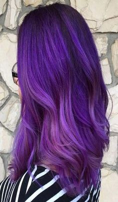 Cool ideas of ombre purple hair color Girl Hair Colors, Hair Color Purple, Cool Hair Color, Color Blue, Purple Ombre Hair Short, Purple Wig, Short Ombre, Dark Purple, Dark Brown