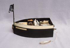 Inga Hunter- Boat Box: Board Box with 3 Books and 2 Baskets, mixed media.