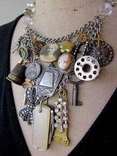 """Junk"" necklace"