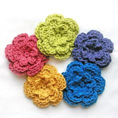 Three layered flowers with link to free pattern